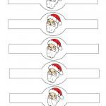Printable Colored Santa Face Napkin Holders