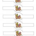 Printable Colored Sled Napkin Holders