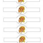 Printable Colored Turkey 1 Napkin Holders