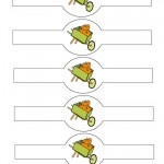 Printable Colored Wagon Napkin Holders