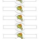Printable Colored Wagon Napkin Holders