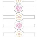 Printable Flower Napkin Holders
