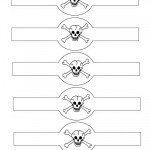 Printable Skull Napkin Holders