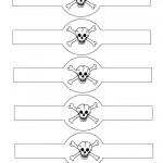Printable Skull Napkin Holders