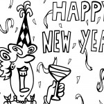 Printable New Years Coloring Page 4