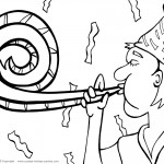 Printable New Years Coloring Page 5