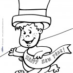 Printable New Years Coloring Page 6