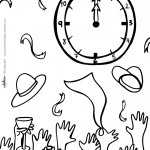 Printable New Years Coloring Page 7