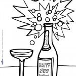 Printable New Years Coloring Page 8
