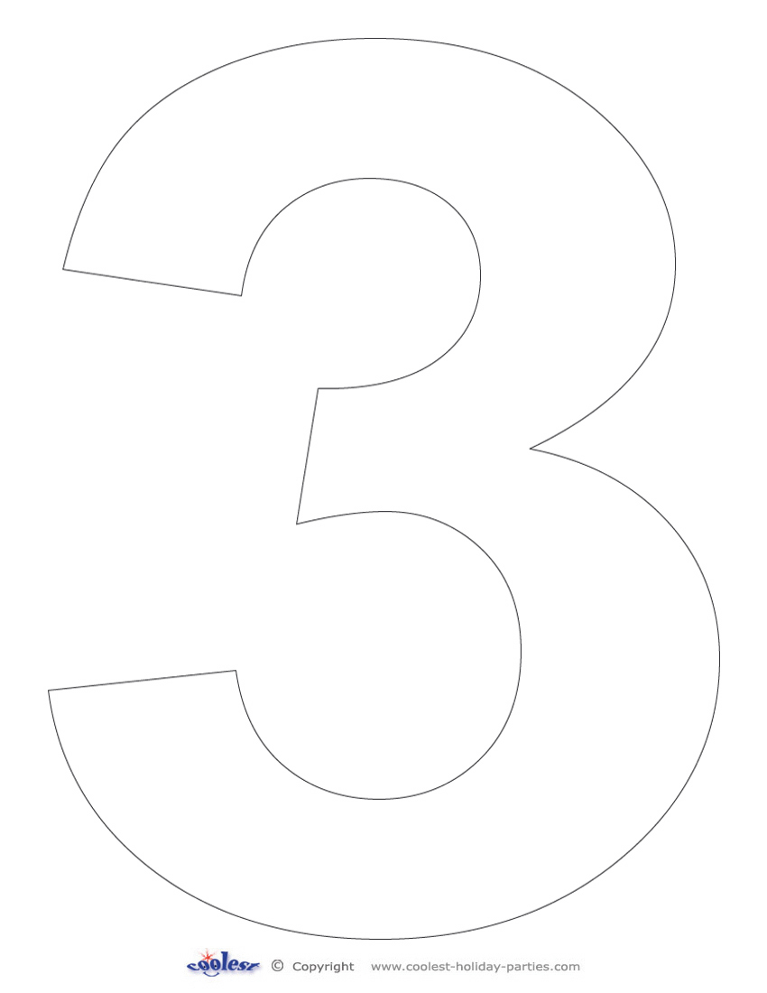 Smart image throughout printable number 3