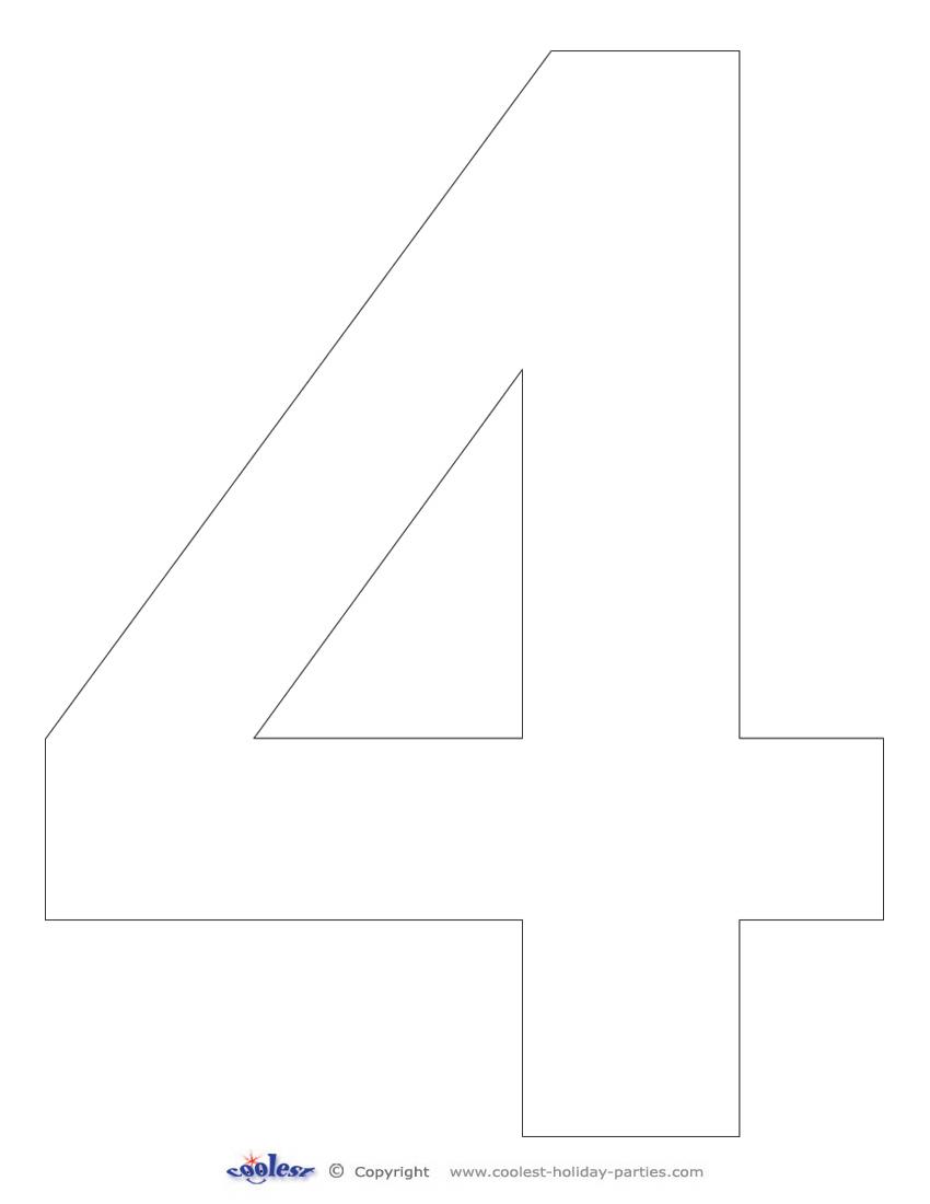 printable number 4
