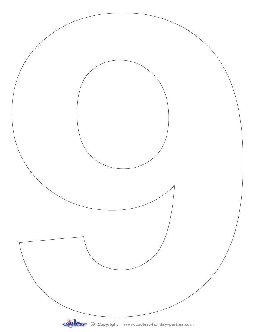 photograph relating to Printable Number 9 referred to as Printable Quantity 9