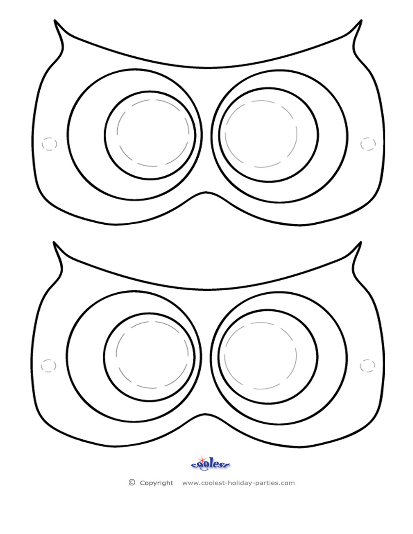 picture relating to Printable Owl Mask named Printable Owl Mask