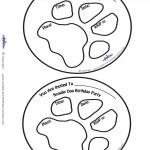 Printable Paw Print Scooby Doo Invitations
