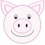 Large Printable Pig Decoration