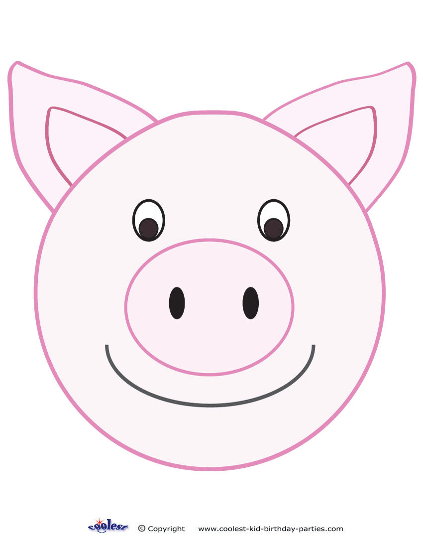picture about Printable Pig named Enormous Printable Pig Decoration