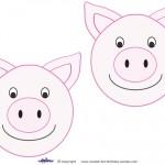 Medium Printable Pig Decorations