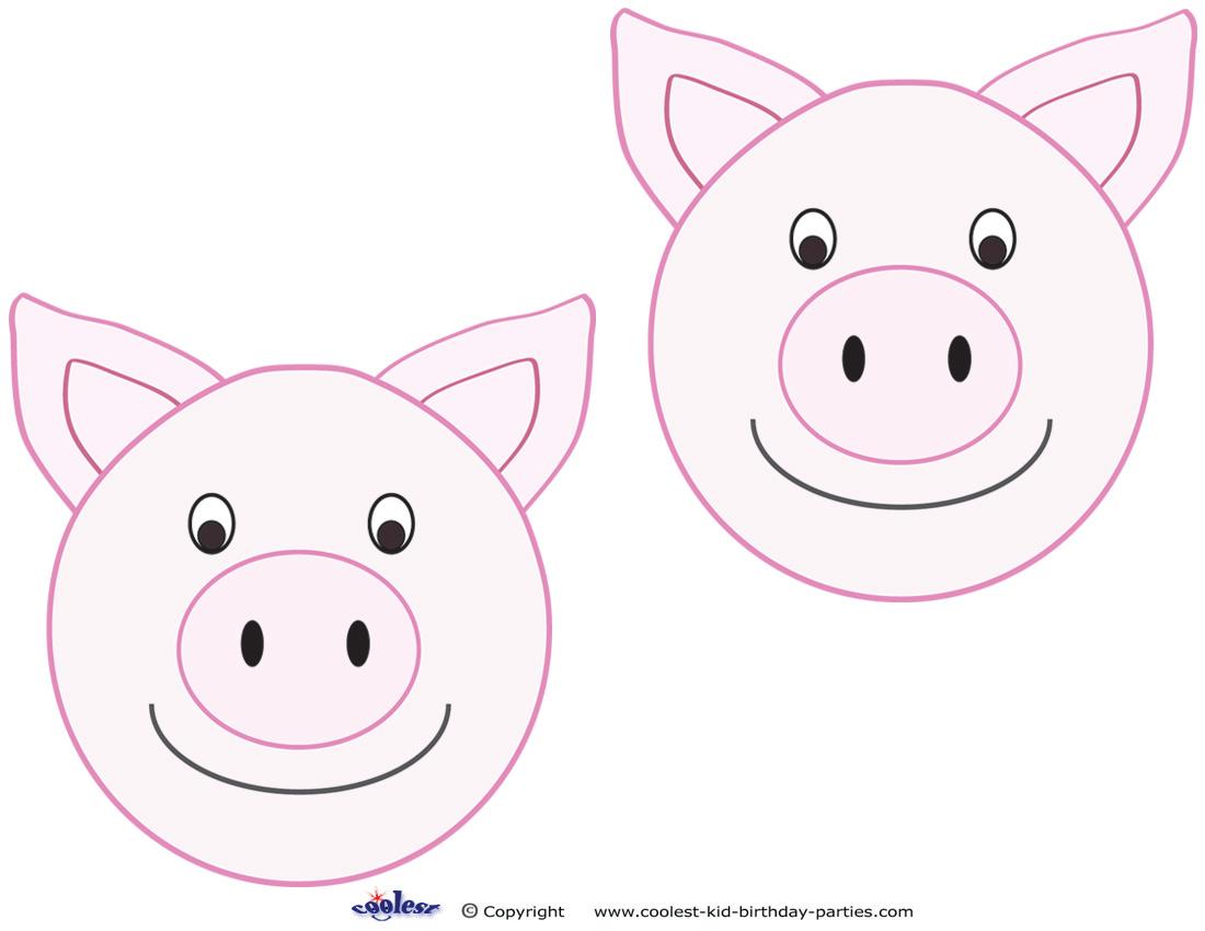 Pig Template Printable Printable pig card erica l