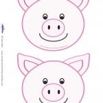 Blank Printable Pig Invitations