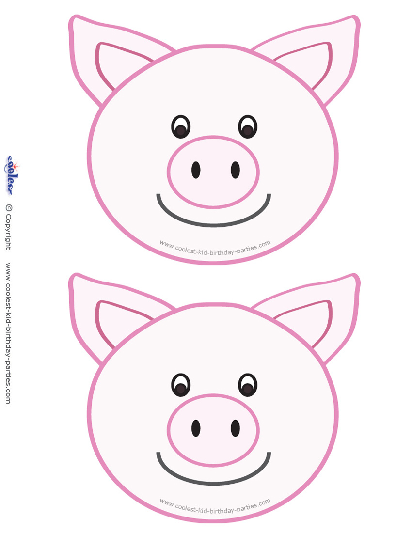 photograph about Pig Template Printable called Blank Printable Pig Invites