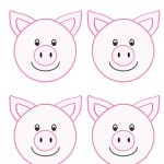 Blank Printable Pig Thank You Cards