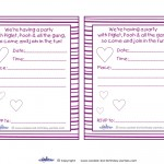 Printable Piglet Invitations