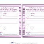 Printable Piglet Invitations