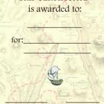 Printable Pirate Certificate