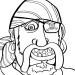 Printable Pirate Coloring Page 3