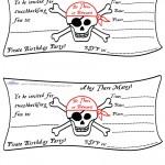 Printable Pirate Flag Invitation