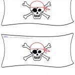 Blank Printable Pirate Flag Invitation