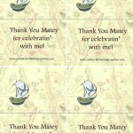 Printable Pirate Foldable Thank You Cards