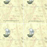 Blank Printable Pirate Foldable Thank You Cards