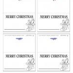 Printable B&W Bear Placecards