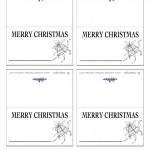 Printable B&W Bells Placecards