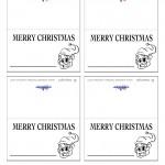 Printable B&W Elf Placecards