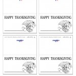 Printable B&W Cornucopia Placecards