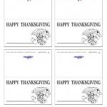 Printable B&W Cornucopia Placecards