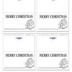 Printable B&W House 2 Placecards