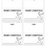 Printable B&W Reindeer Placecards