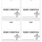 Printable B&W Santa 1 Placecards