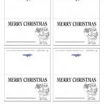 Printable B&W Santa 2 Placecards