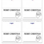 Printable B&W Santa Face Placecards