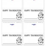 Printable B&W Scarecrow Placecards