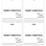Printable B&W Sled Placecards