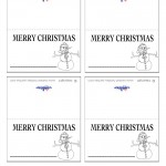 Printable B&W Snowman Placecards