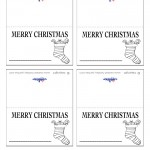 Printable B&W Stocking Placecards