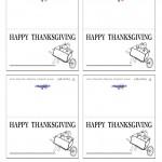 Printable B&W Wagon Placecards