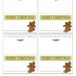 Printable Colored Bear Placecards