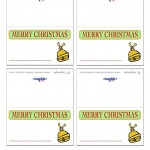 Printable Colored Bell Placecards